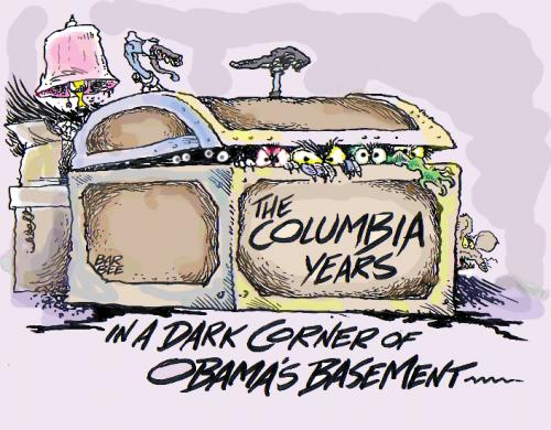 Cartoon: the years at Columbia University (medium) by barbeefish tagged obama