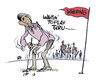 Cartoon: dithering on the tee (small) by barbeefish tagged obama