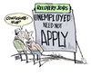 Cartoon: USA ECONOMY (small) by barbeefish tagged jobless