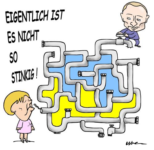 Cartoon: Die ukrainischen Tangle (medium) by uber tagged ukraine,putin,merkel,gas,gas,merkel,putin,ukraine