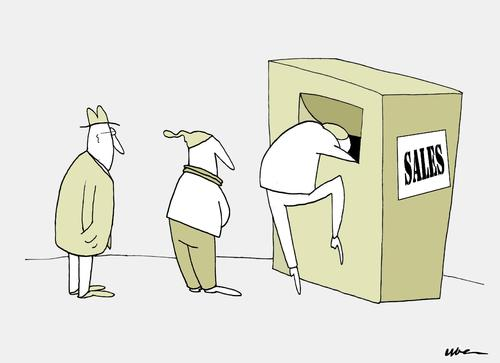 Cartoon: SALDI DI STAGIONE (medium) by uber tagged sales,saldi,crisi,poverty,sales,saldi,crisi,poverty