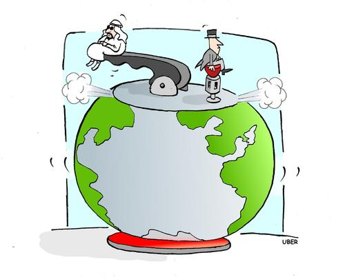 Cartoon: the pressure cooker (medium) by uber tagged petrol,democracy,middle,east,uprising