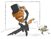 Cartoon: DANCE WITH ME (small) by uber tagged afghanistan,obama,war