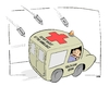 Cartoon: DO NOT SHOOT AT THE AMBULANCE (small) by uber tagged obama,health,care,reform,usa