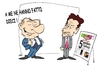 Cartoon: PETITES SATISFACTIONS (small) by uber tagged berlusconi,sarkozy,presse,scandale