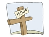 Cartoon: RUN FOR COVER (small) by uber tagged copyright,cristianesimo,christianity