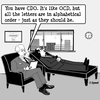 Cartoon: OCD Get it right (small) by cartoonsbyspud tagged cartoon,spud,hr,recruitment,office,life,outsourced,marketing,it,finance,business,paul,taylor