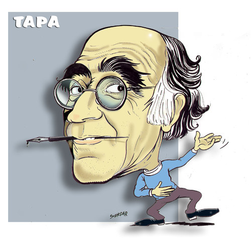Cartoon: ibrahim tapa (medium) by portreci tagged cartoon,portraits