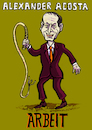 Cartoon: Alexander Acosta Arbeitsminister (small) by habild tagged arbeit,labor,minister,trump