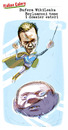 Cartoon: Bufera Wikileaks Berlusconi teme (small) by portos tagged wikileaks,berlusconi,dossier