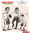 Cartoon: ITALIAN GALERY (small) by portos tagged berlusconi,fini,la,russa