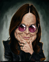 Cartoon: Ozzy Osbourne Caricature (small) by Felipe Moreira tagged digital,paint,caricature