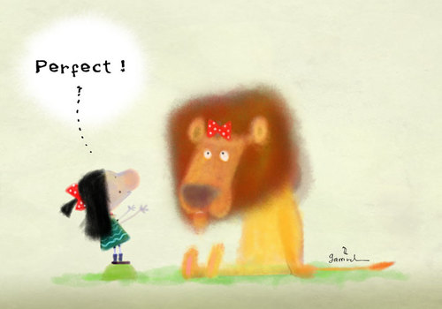 Cartoon: Pattie and Phil the Lion (medium) by Garrincha tagged illustration