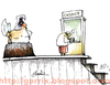 Cartoon: Cashier (small) by Garrincha tagged gag,cartoon