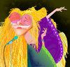 Cartoon: Janis! (small) by Garrincha tagged music singer