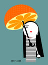 Cartoon: Orange girl. (small) by Garrincha tagged illustration
