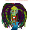Cartoon: Robert Nesta Marley (small) by Garrincha tagged music reggae artist guitar