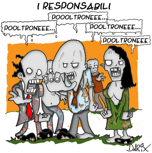 Cartoon: I responsabili (medium) by darix73 tagged responsabili,berlusconi,poltrone,corruzione