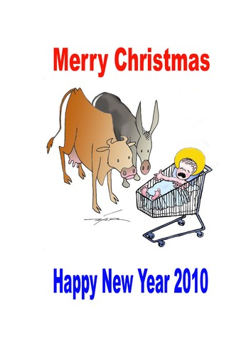 Cartoon: happy (medium) by zluetic tagged merry,christmus