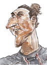 Cartoon: Zlatan Ibrahimovic (small) by daulle tagged yer