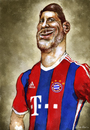 Cartoon: XABI ALONSO (small) by lagrancosaverde tagged xabi,alonso,bayern,münchen,munich,real,madrid