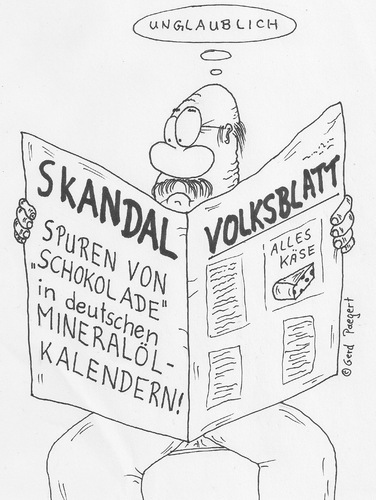 Cartoon: Weihnachtskalender (medium) by boogieplayer tagged pressemitteilung