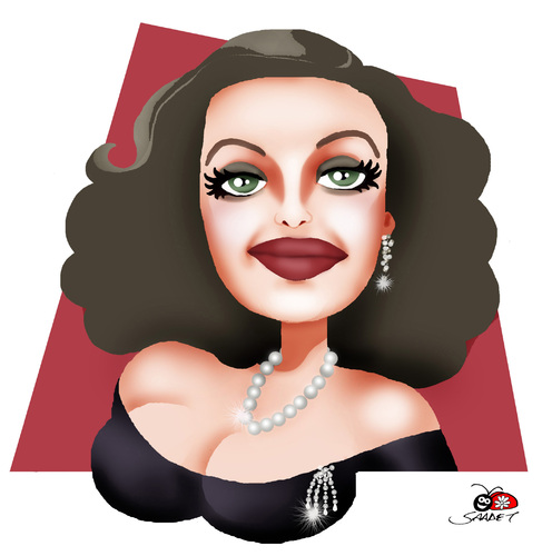Cartoon: Bette Davis (medium) by saadet demir yalcin tagged bettedavis,syalcin