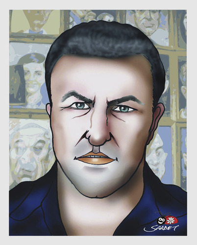 Cartoon: MARIAN AVRAMESCU portrait-2 (medium) by saadet demir yalcin tagged mav