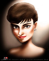 Cartoon: Audrey Hepburn (small) by saadet demir yalcin tagged saadet,sdy,syalcin,turkey,portrait,audrey,cinema