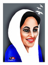 Cartoon: Benazir Butto (small) by saadet demir yalcin tagged butto syalcin