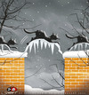 Cartoon: Cats in the winter... (small) by saadet demir yalcin tagged saadet,sdy,winter,cats,cold,ice