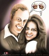 Cartoon: Kate and William (small) by saadet demir yalcin tagged royal,wedding,kate,william,marriage,charles,queen,buckingham,palace,windsor,mountbatten,middleton,westminster,abbey,camilla
