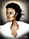 Cartoon: Michael Jackson (small) by saadet demir yalcin tagged mj,syalcin,sdy,saadet,turkey,music