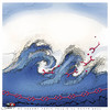 Cartoon: No limit for tsunami... (small) by saadet demir yalcin tagged saadet,sd,syalcin,turkey,japan,tsunami