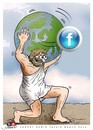 Cartoon: Satellite of the world (small) by saadet demir yalcin tagged saadet,sdy,fb