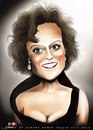 Cartoon: Sigourney Weaver (small) by saadet demir yalcin tagged saadet,sdy,portrait