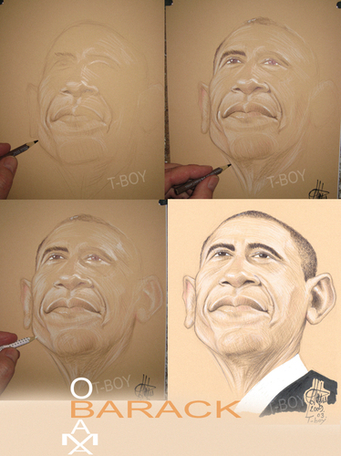Cartoon: BARACK (medium) by T-BOY tagged barack