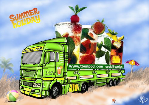 Cartoon: COCTAIL CAMION (medium) by T-BOY tagged coctail,camion