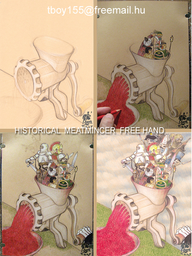 Cartoon: HISTORICAL  MEATMINCER (medium) by T-BOY tagged historical,meatmincer