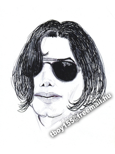 Cartoon: JACKO (medium) by T-BOY tagged jacko