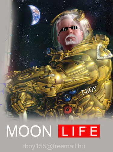 Cartoon: MOON LIFE (medium) by T-BOY tagged moon,life