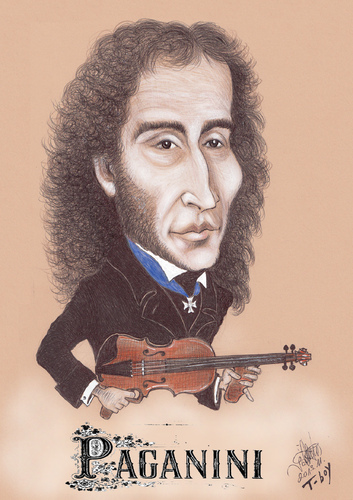 Cartoon: PAGANINI (medium) by T-BOY tagged paganini