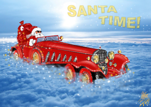 Cartoon: SANTA TIME (medium) by T-BOY tagged santa,time