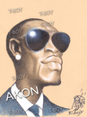 Cartoon: AKON (small) by T-BOY tagged akon