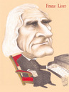 Cartoon: FRANZ LISZT (small) by T-BOY tagged franz liszt