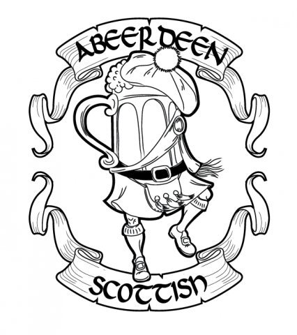 Cartoon: sketch for pub aBEERdeen (medium) by Braga76 tagged logo,beer