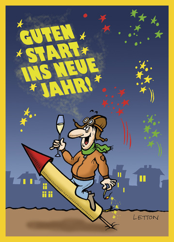 Cartoon: Happy New Year! (medium) by Nottel tagged jahreswechsel,neujahr,2014,silvester