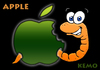 Cartoon: Apple (small) by K E M O tagged apple,kemo,cartoon,funny