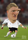 Cartoon: Bastian Schweinsteiger (small) by geomateo tagged bastian,schweinsteiger,soccer,football,germany