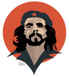 Cartoon: Che Guevara portrait (small) by geomateo tagged che guevara cuba castro